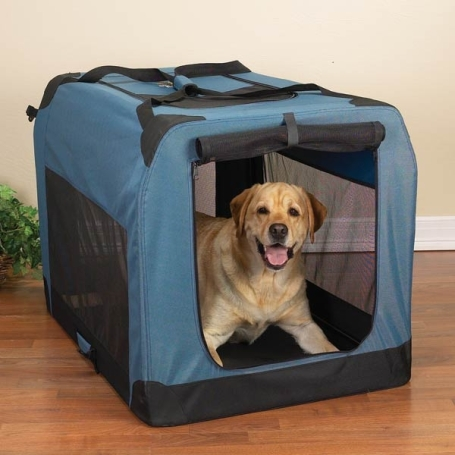 Soft-Sided Collapsible Crate - Blue Large
