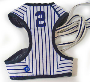 Easy Go Baseball Stripe Dog Harness